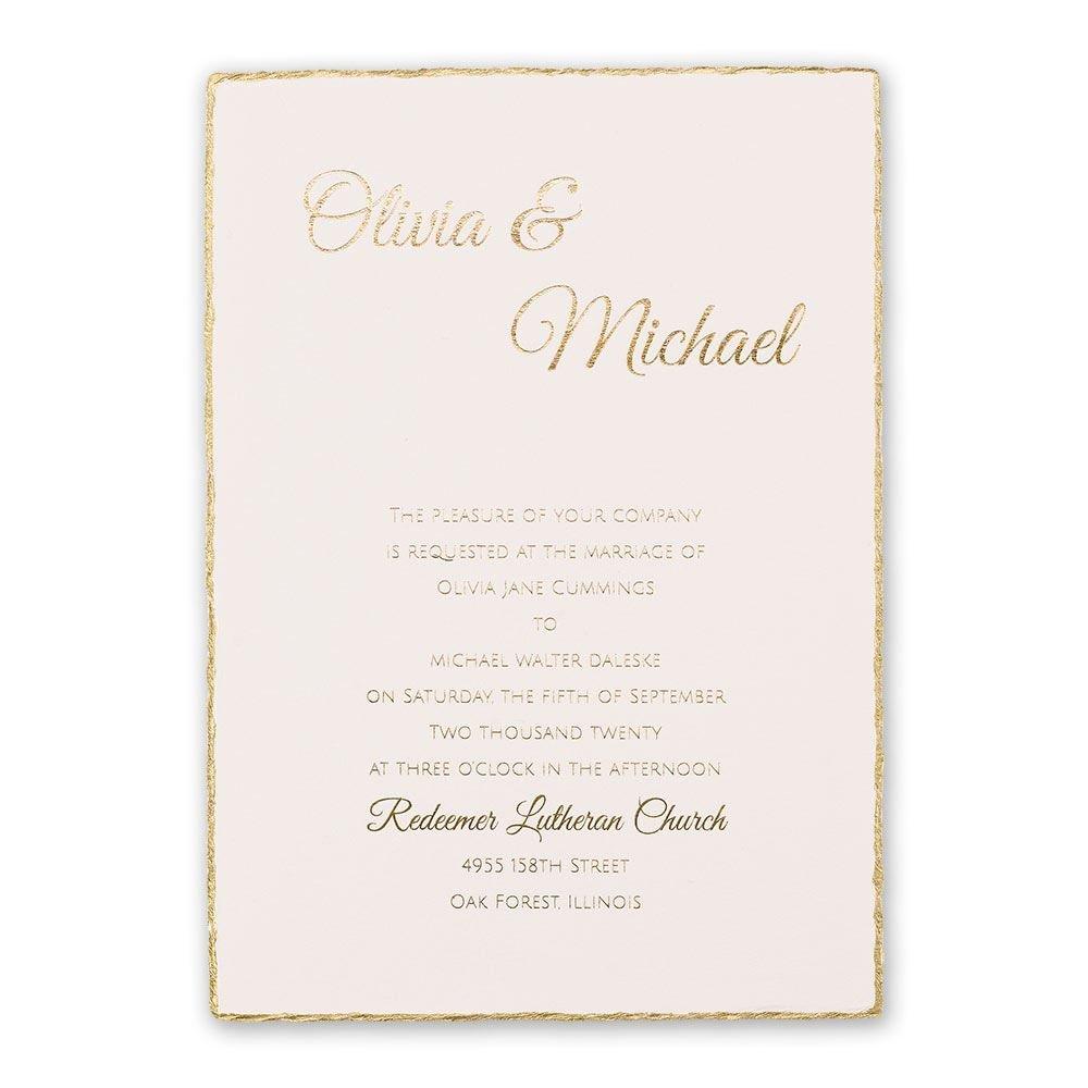 Gold Lining Foil Invitation Invitations By Dawn