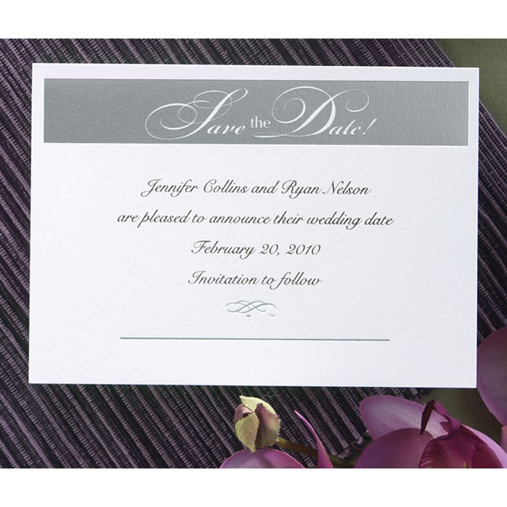 Silver Save The Date Invitation Invitations By Dawn
