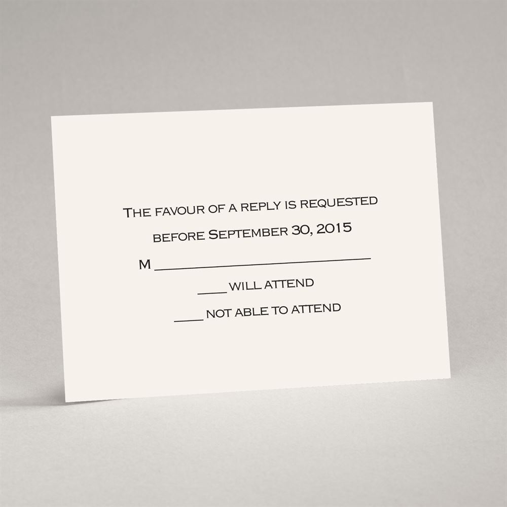 Ecru Response Card And Envelope Invitations By Dawn