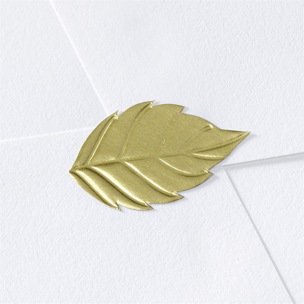 Blank Leaf Wedding Seal Invitations By Dawn