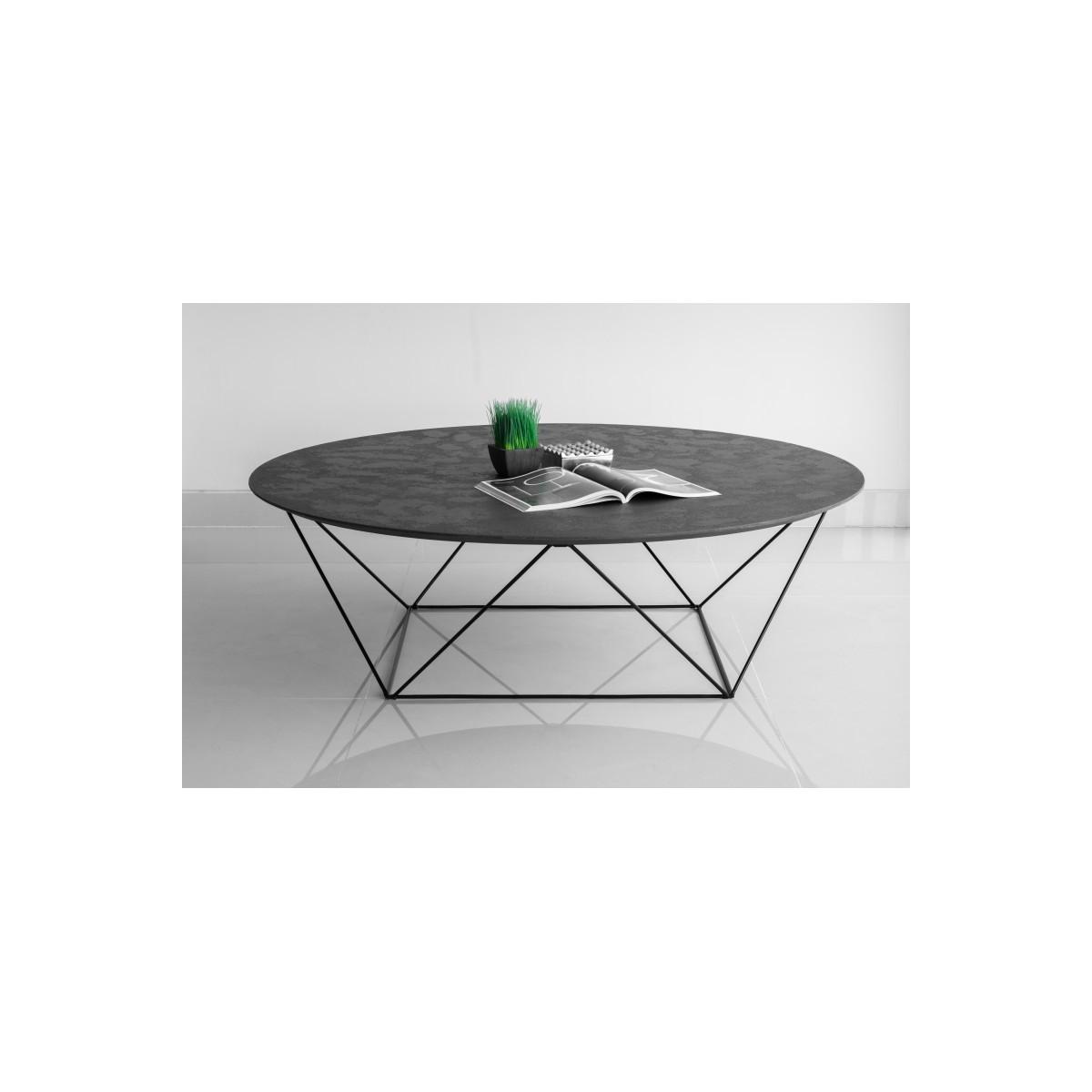 table basse ronde industrielle tania en
