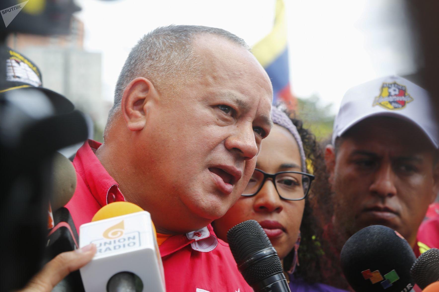 Diosdado Cabello, presidente de la Asamblea Nacional Constituyente de Venezuela, una de las víctimas de las olas de 'fake news' lanzadas contra el Gobierno de Nicolás Maduro