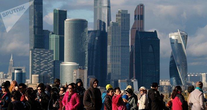 Turistas en Moscú, Rusia (imagen referencial)