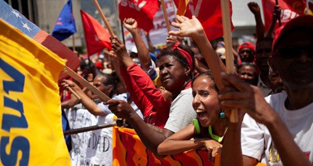 Los seguidores del presidente de Venezuela, Nicolás Maduro