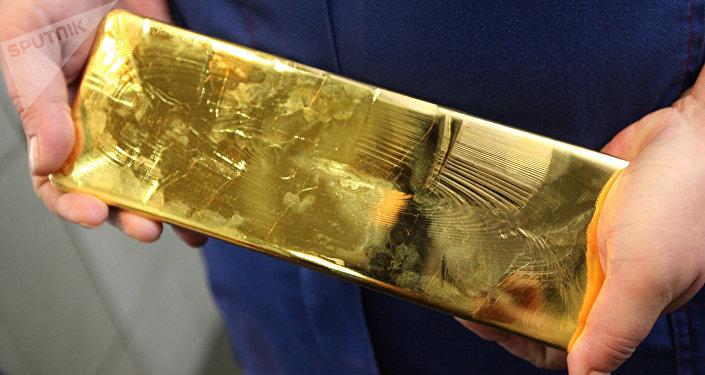 Un lingote de oro (archivo)
