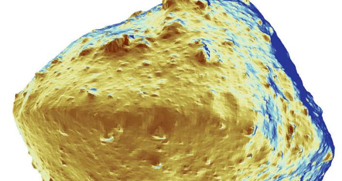 El mapa de la distribución del agua sobre la superficie del asteroide Ryugyu