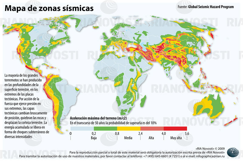 Resultado de imagen para mapa de zonas sismicas