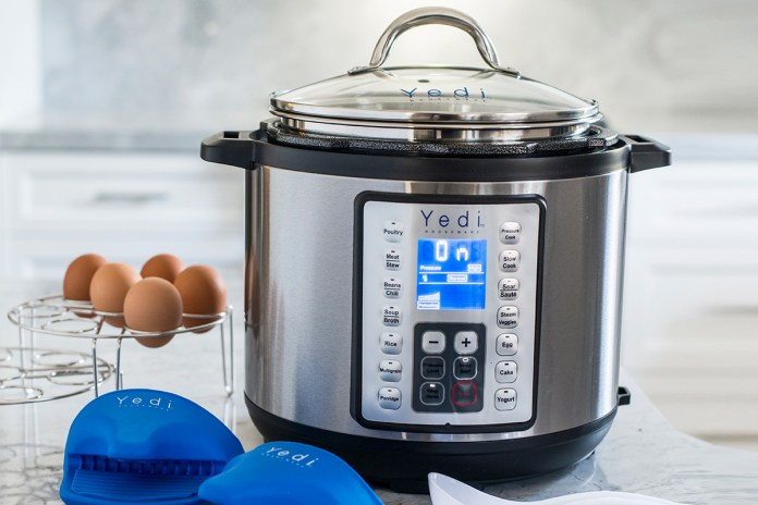 Yedi 9-in-1 Total Package Instant Programmable 6 QT Pressure Cooker, on sale for $79.97 (19% off)