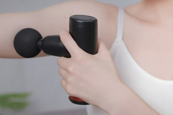 No More Sore Mini Muscle Toner Massage Gun, on sale for $47.99 when you use coupon code BFSAVE20 at checkout