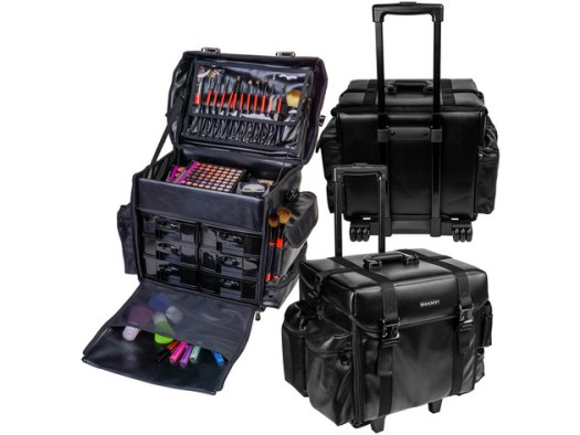 SHANY Makeup Artist Soft Rolling Trolley Cosmetic Case with Free Set of Mesh Bag - HEAD TURNER for $199 3