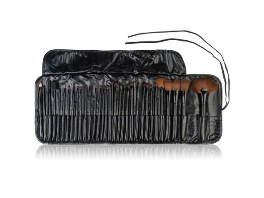 SHANY Professional Brush Set with Faux Leather Pouch, 32 Count, Synthetic Bristles for $24 3
