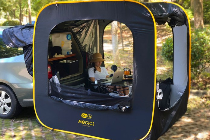CARSULE Pop-Up Cabin for Your Car, on sale for $237.97 (37% off)