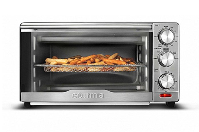 Gourmia® GTF7350 6-in-1 Multi-Function Stainless Steel Air Fryer Oven, on sale for $74.97 (16% off)