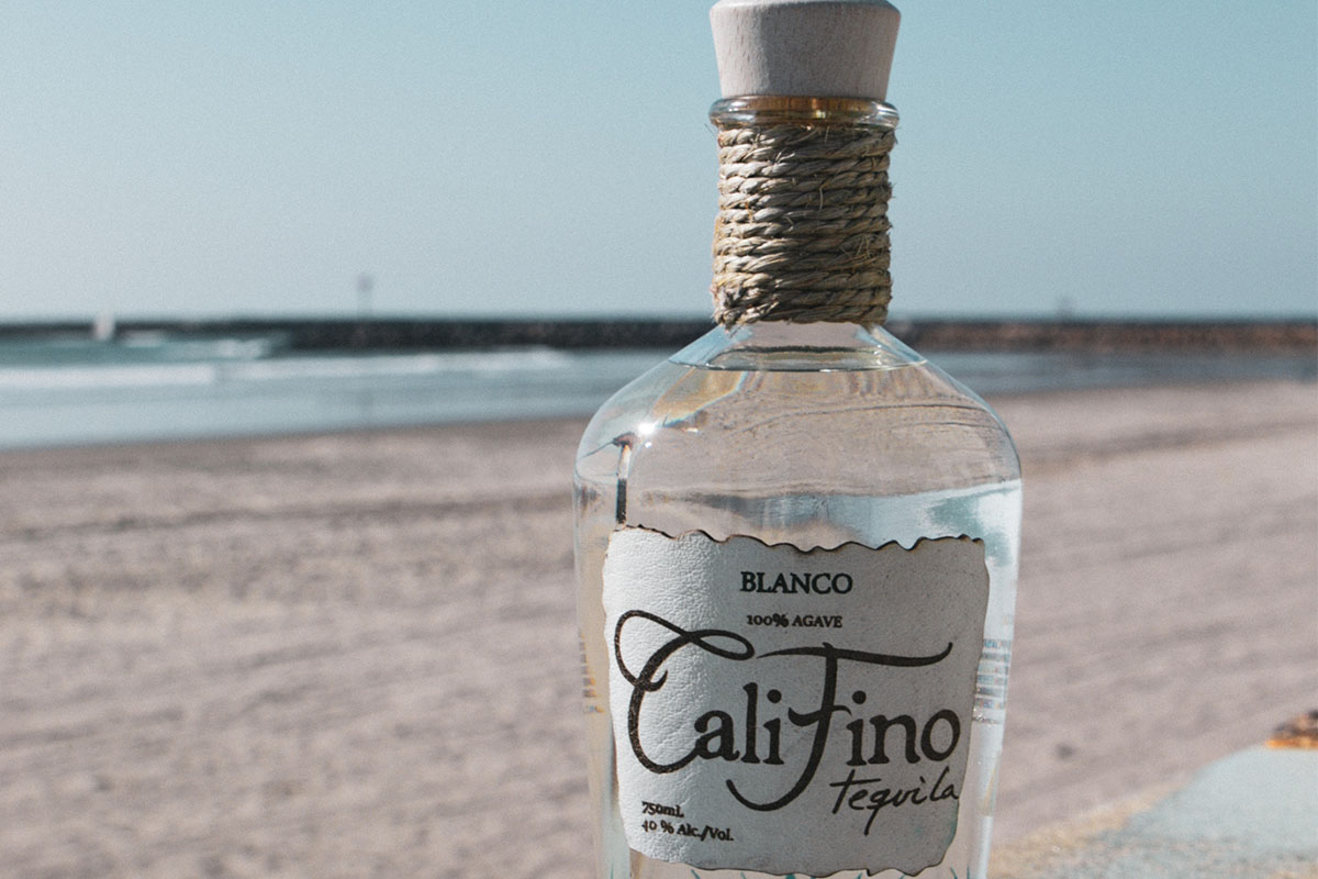 A bottle of CaliFino Tequila
