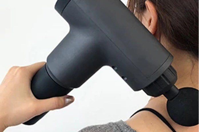 Deep Tissue Massage Gun with Interchangeable Heads, on sale for $47.99 when you use coupon code BFSAVE20 at checkout