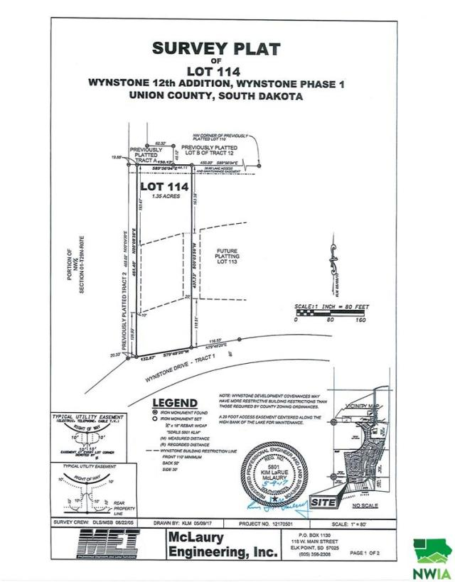Property for sale at Lot 114 Wynstone Drive, Jefferson,  SD 57038