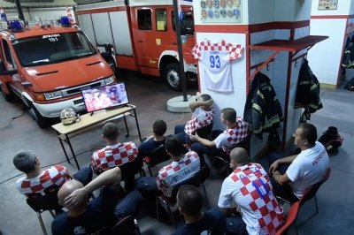 Watch: Croatian fire department pretends to report to fire during World Cup game World Cup Croatian fire department releases satire PSA video