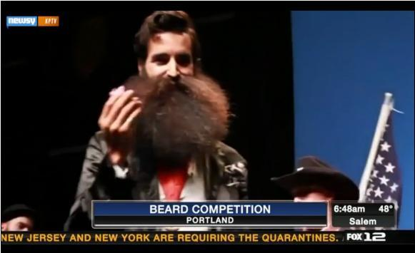300 Fight For Facial Hair Supremacy In Portland
