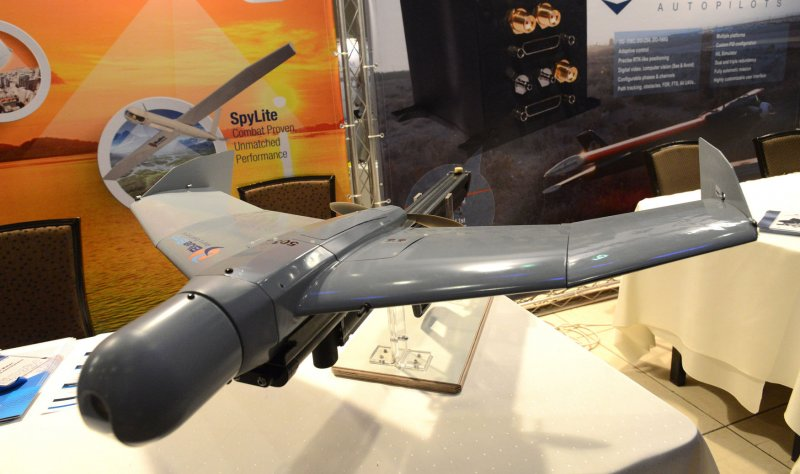 An unmanned aerial vehicle (UAV) made by the Bluebird Aero Systems, used by military and homeland security, is seen on display at the third Unmanned Aerial Vehicles Conference in Airport City outside Tel Aviv, Israel, September 17, 2014. UPI/Debbie Hill License Photo