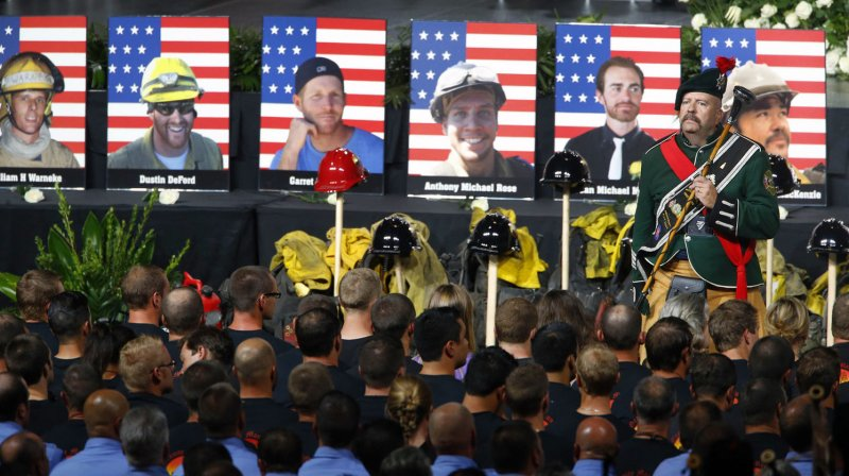 UPDATE Biden Leads Memorial For Granite Mountain