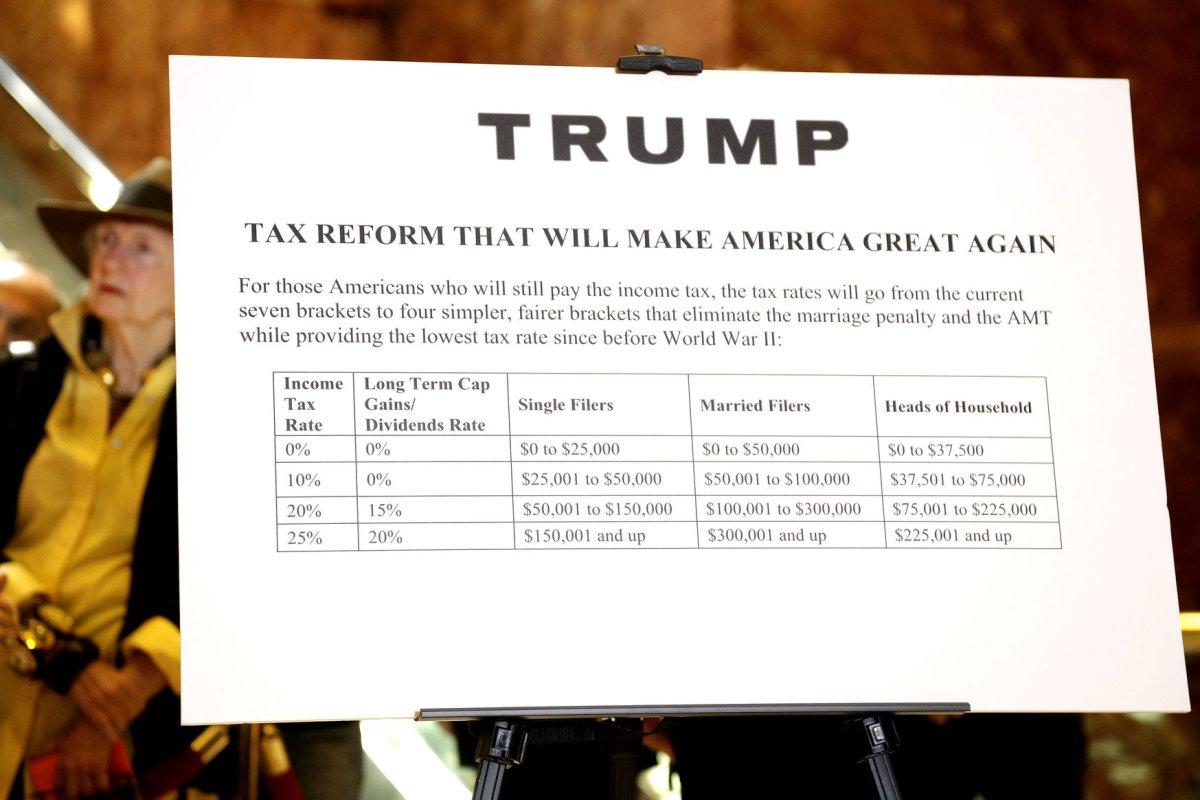 Donald Trump S Tax Plan Zero Rate For Some Upi Com