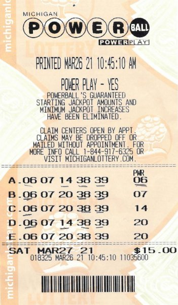 Vera Giglio of Grosse Point Shores, Mich., said the Powerball ticket that earned her a $150,000 prize bore the same numbers she has been using in the drawing for years. Photo courtesy of the Michigan Lottery