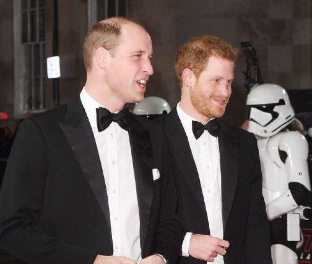 Prince William L And Prince Harry Attend The London Premiere Of Star Wars The Last Jedi On Tuesday Photo By Rune Hellestad Upi License Photo