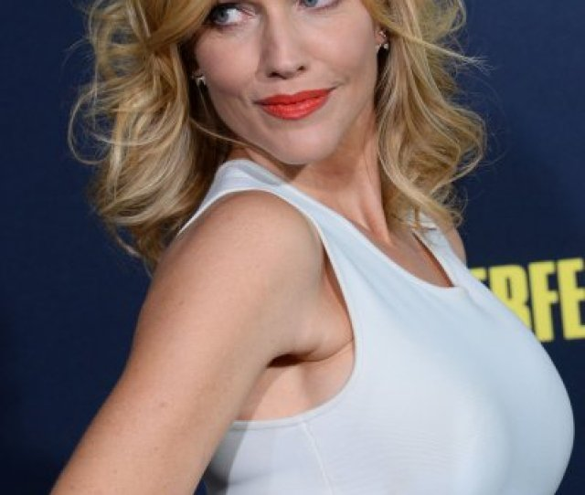 Actress Tricia Helfer Attends The Premiere Of The Motion Picture Comedy Pitch Perfect 2 At Nokia Theatre In Los Angeles In 2015