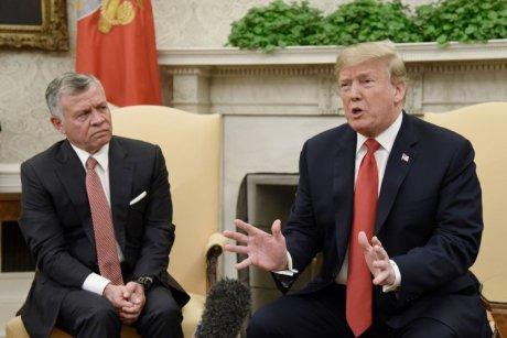 trump meets jordanian king