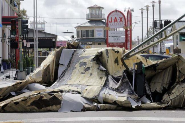 Damage from Hurricane Ida is seen in the French Quarter of New Orleans, La., on August, 29. The storm arrived as a Category 4 hurricane and is responsible for at least 26 deaths, officials said. Photo by AJ Sisco/UPI