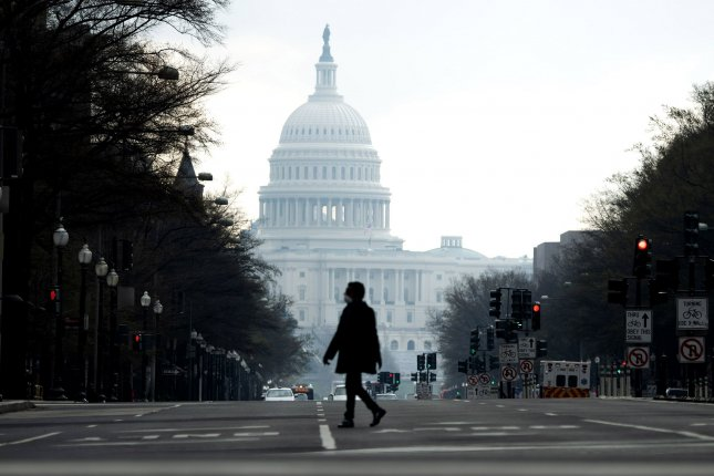 A bipartisan group of lawmakers is set to release a $908 billion COVID-19 relief bill on Monday as Sen. Joe Manchin, D-W.Va., said the nation faces its toughest first quarter ever.File Photo by Kevin Dietsch/UPI