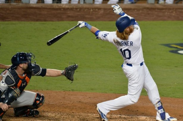 Image result for world series 2017 home run