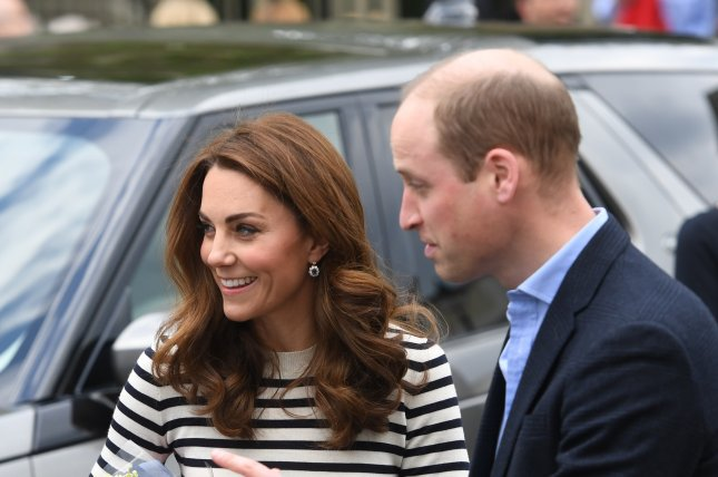 Kate Middleton, the Duchess of Cambridge, and her husband William, the Duke of Cambridge. Middleton is in self-isolation after prolonged contact with someone infected with COVID-19. File photo by Facundo Arrizabalaga/EPA-EFE