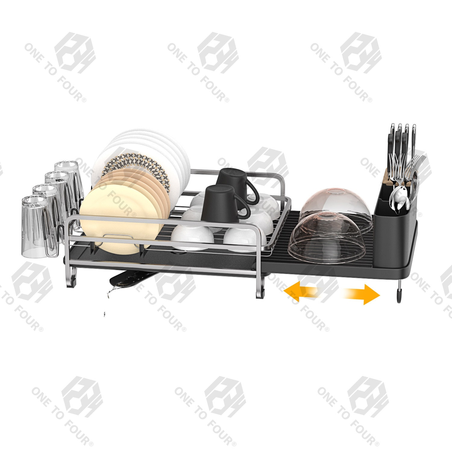 buy one to four dish rack expandable kitchen sink organiser dish drying rack and drain board set black online shop home garden on carrefour uae