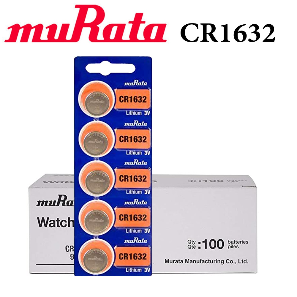 Buy Murata 100 Piece Cr1632 3v Lithium Batteries Online Shop Electronics Appliances On Carrefour Uae