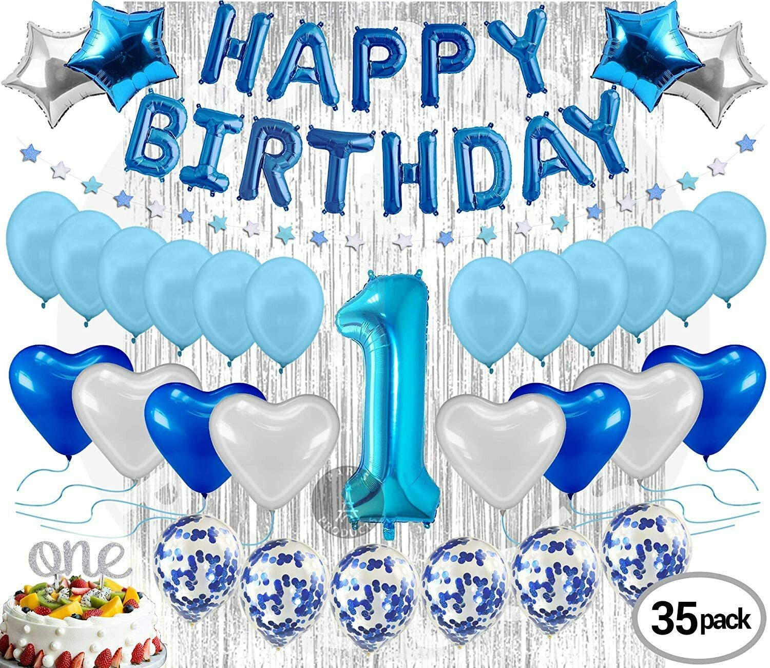 Buy Generic 1st Birthday Decoration For Baby Boy Kit Online Shop Home Garden On Carrefour Uae
