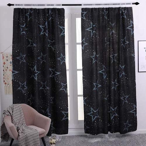 buy deals for less double layer window curtain set of 2 pieces blue star design online shop home garden on carrefour uae