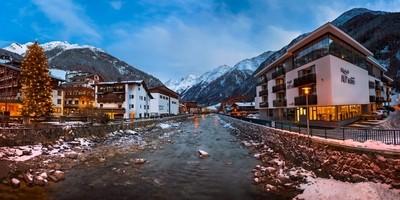 Visit my website www.ansharphoto.com and follow me on instagram @ansharphoto!  Solden Ski Resort Skyline in the Morning, Tirol, Austria by theoherbots