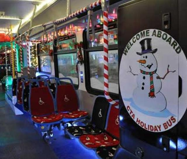 Cta Holiday Bus To Debut At Magnificent Mile Festival Of Lights Parade