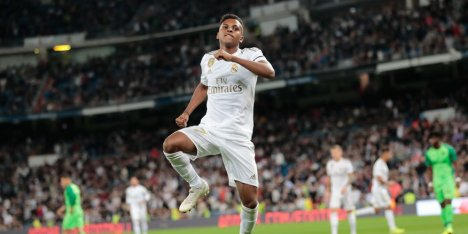 Bintang muda Real Madrid, Rodrygo (c) AP Photo