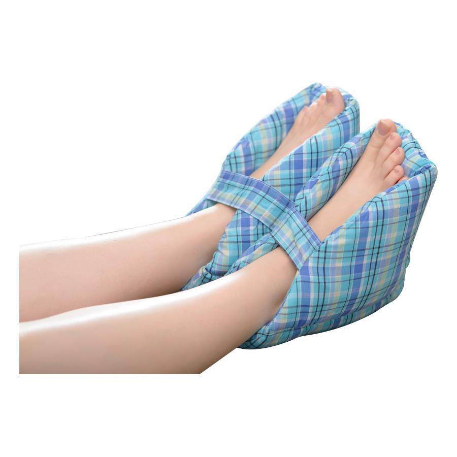 careactive plaid heel protector foot pillows
