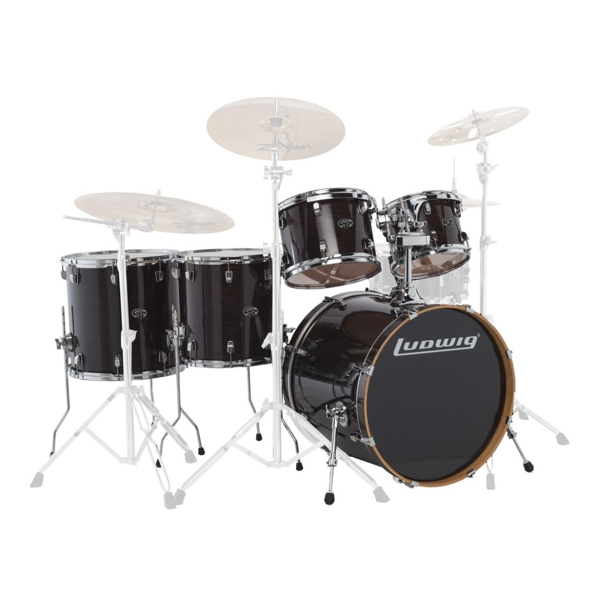 """Ludwig Element Evolution 22"""" 5pc Maple Shell Pack Trans Black"""
