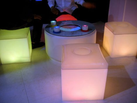 Color-changing furniture reflect moods