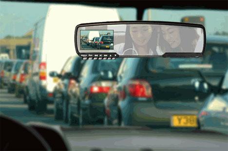 Digital Video Recording Rear View Mirror
