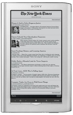Sony Reader Daily Edition Now Available for Purchase with WiFi + 3G