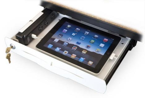 iDrawer Lockable Storage Drawer Protects Your iPad