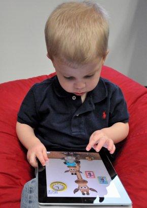 Kid with iPad
