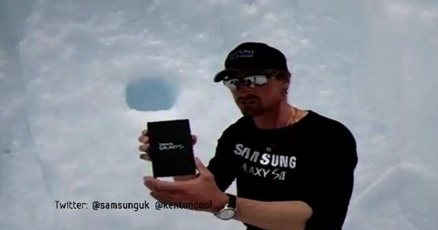 Samsung Galaxy S II on Mount Everest
