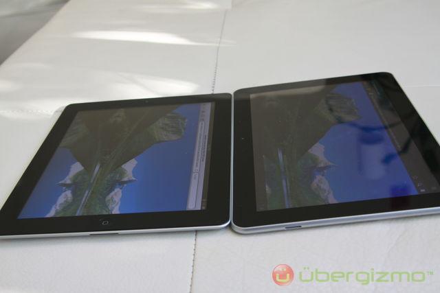 iPad 2 Galaxy Tab 10.1 View angle comparison