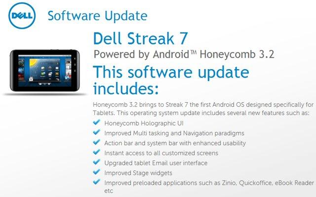 Dell Streak Honeycomb update